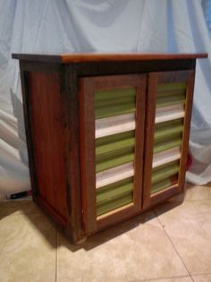 Reclaimed Door Mudroom Cabinet Before Stain Upcycle FUN