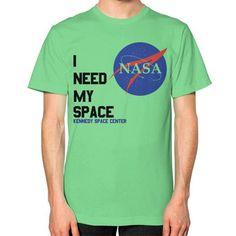i Need My Space NASA Unisex T-Shirt (on man)
