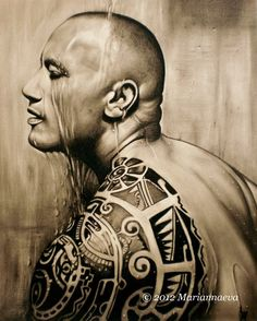 Nice ink. Samoan tattoo. Dwayne Johnson by Mariannaeva on deviantart