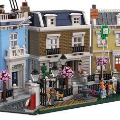Mary Poppins, Cherry Tree Lane – ArchBrick Daily Mary Poppins, Star Destroyer, Obi Wan, Pokemon Lego, Construction Lego, Lego People, Lego Blocks, Lego Modular, Cool Lego Creations
