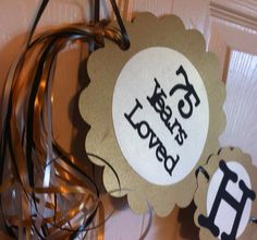 75th  Birthday Decorations Personalization Available by FromBeths
