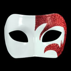 Masquerade Party Masks - Pin it :-) Follow us .. CLICK IMAGE TWICE for our BEST PRICING ... SEE A LARGER SELECTION of Masquerade Party Masks at http://azgiftideas.com/product-category/masquerade-party-masks/ halloween masks, mardi gras masks, dress up costumes Mystic Red Glitter & White Venetian Masquerade Mask ~ Mardi Gras Prom Party (STC12950)