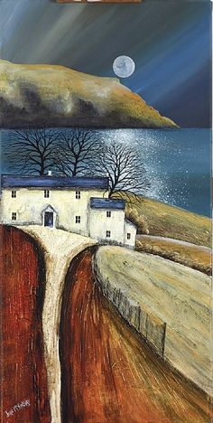 Moonrise and Headland by John Mckinstry