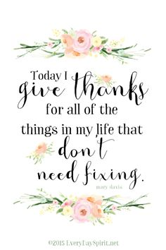 """""""Give Thanks"""" Print. A welcome addition to your desk or with a sweet frame as a gift for a friend. On Etsy. xo www.everydayspirit.etsy.com"""