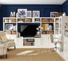 Living Room/Library on Pinterest | Green Living Rooms