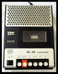 Old Technology, Cassette Recorder, I Remember When, Retro Design, Childhood Memories, Retro Vintage, Audio, Old Things, Electronics