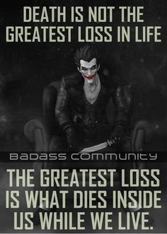 Sad truth citations jokers, joker and harley quinn, the joker, life death quotes True Quotes, Great Quotes, Quotes To Live By, Motivational Quotes, Inspirational Quotes, Focus Quotes, Best Joker Quotes, Badass Quotes, Joker And Harley Quinn