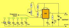 Генератор прямоугольных импульсов на NE555 (1Гц— 100кГц)