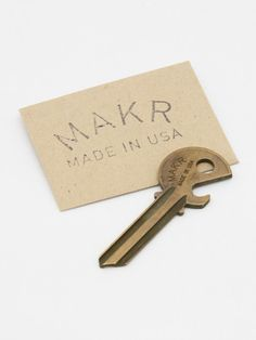 Makr Carry Goods - Bottle Key. Need to remember this for a gift idea.