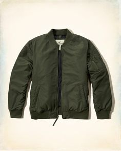 Hollister Co. Lightweight Bomber Jacket #hcostylescene #hcopartner
