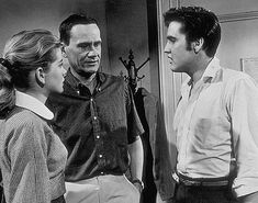 """Elvis Presley, Wendell Corey, and Dolores Hart in """"Loving You"""""""