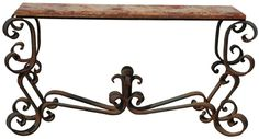 Massive French Wrought Iron Table