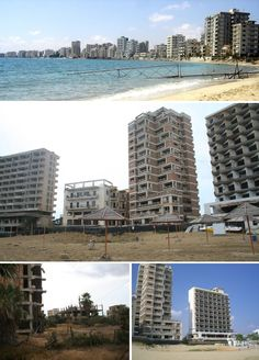 Once a lively tourist haven in the city of Famagusta, Varosha  has remained abandoned and strictly off-limits to urban explorers since the 1974 Turkish invasion of Cyprus.  It's a far cry from the days when the elegant hotels and restaurants along JFK Boulevard and Leonidas hosted the likes Dame Elizabeth Taylor, with the abandoned buildings of Varosha now crumbling in ways that remind of The World Without Us.