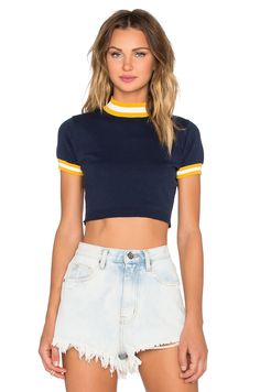 UNIF Vern Crop Top in Navy | REVOLVE