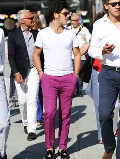 A dude with the balls to wear fuchsia trousers and velvet slippers get my upvote anyday
