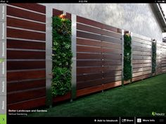 Interesting way of covering a plain exterior wall in front add 3 planters