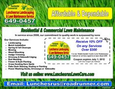 Lawn Care Flyer Free Template | Lawn Care Business Marketing Tips ...