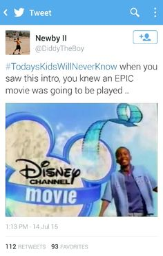 As a little kid I always got excited when i saw this intro because I knew an EPIC lh movie was about to play #Disney #TodaysKidsWillNeverKnow