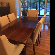 Your place to buy and sell all things handmade Dining Table Height, Custom Dining Tables, Walnut Dining Table, Walnut Coffee Table, Cool Coffee Tables, All Wood Furniture, Custom Furniture, Furniture Plans, Live Edge Table