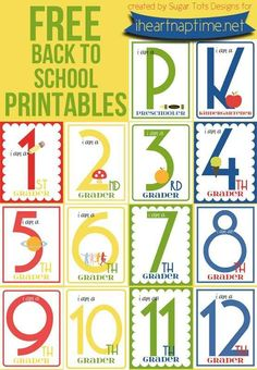 Free Back To School Printable Signs | 20 Free Printable First Day Of School Signs