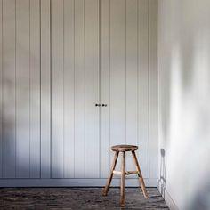 Grey tongue groove cupboard doors