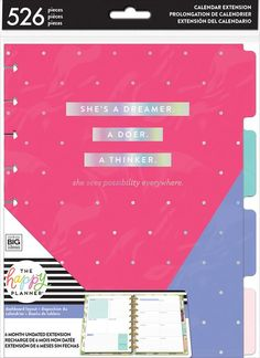 Classic Extension Pack - Dashboard – me & my BIG ideas Happy Planner Cover, Planner Covers, Happy Planner Accessories, Household Notebook, Home Binder, Planner Dashboard, Life Organization, Organizing Life, Mindfulness Quotes