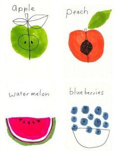 Souris De Villes  #fruits #illustration