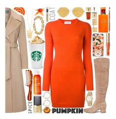 """Pumpkin Spice Style: Contest Entry"" by isquaglia ❤ liked on Polyvore featuring Courrèges, Sam Edelman, Casetify, Too Faced Cosmetics, Avène, Sisley, Kate Spade, Mason Pearson, Nordstrom and DKNY"