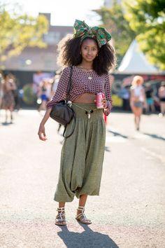 ELLE.com photographer Tyler Joe captures the best street style from Afropunk.