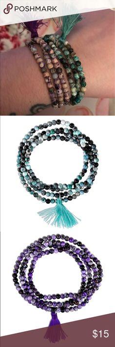 """Set of fancy jasper wrap bracelets💕 Bought from target for 30$ never worn. 21"""" long each. target Jewelry Bracelets"""