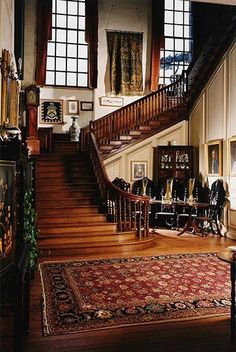 Glemham Hall staircase....Glemham Hall is an Elizabethan stately home, set in around 300 acres of park land on the outskirts of the village of Little Glemham in Suffolk, England. It is a Grade I listed building, properly called Little Glemham Hall.