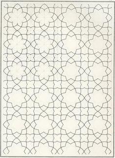 Coloring for adults - Kleuren voor volwassenen Motifs Islamiques, Islamic Motifs, Islamic Tiles, Islamic Art Pattern, Arabic Pattern, Geometry Pattern, Pattern Art, Pattern Design, Geometric Drawing
