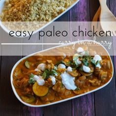 Do you know what… we really really love curry! The flavours in our Easy Paleo Chicken Curry rock! Since we are writing