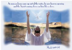 The Spirit came down on Jesus like a dove. — Mark 1:10