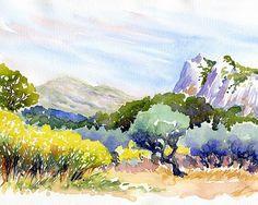 aquarelle paysage méditerranéen - Google Search