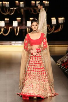 #AliaBhatt in Manish Malhotra designs