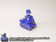 Hand drawn papercraft Advance Wars Blue Moon Tank (+lots more! ;o) from my Ninjatoes' papercraft webpage: http://ninjatoes.wordpress.com/category/advance-wars/  Have fun building! ;o)
