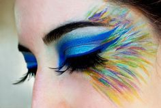 Check out the gorgeous make-up works of Beutylish Editor Victor . - Make-up - Makeup Peacock Eye Makeup, Bird Makeup, Butterfly Makeup, Dramatic Eye Makeup, Dramatic Eyes, Owl Makeup, Bright Eye Makeup, Eye Makeup Art, Makeup Box