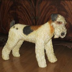 paper mache dog | WIRE FOX TERRIER $175.00
