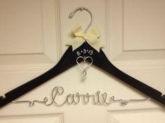Personalized Wire Wedding Dress Hanger w/ by UnderTheUmbrellaMom, $25.00  so sweet