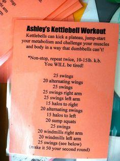 Kettlebell workout!