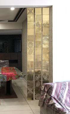 Brass art work Partition Design, Grill Design, Metal Artwork, Cut Out Design, Panel Art, Wall Treatments, Dividers, Office Interiors, Home Living Room