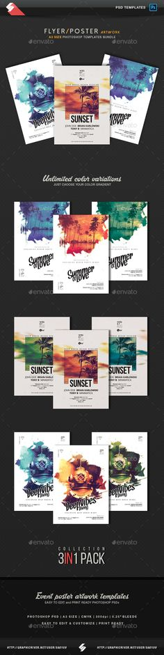 Creative Sound vol.2 - Party Flyer / Poster PSD Templates Bundle. Download here: https://graphicriver.net/item/creative-sound-vol2-party-flyer-poster-templates-bundle/17107817?ref=ksioks