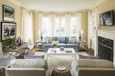 Living Room of Palm residence, designed by Bear Hill Interiors