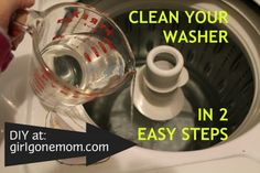 DIY: Clean & Disinfect Your Washer in 2 Easy Steps - girlgonemom.com