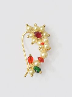 Indian Nose Ring With Pearls