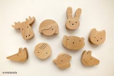 Fridge magnets - ANY 4 wooden magnets - Kids fridge magnets. Visit AMAMILLO.com