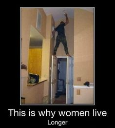 how many men does it take to change a lightbulb? (although, to be fair, I'd probably do the same, BUT I'd put something there to prop the doors open)