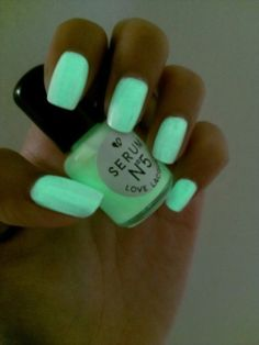 Cool glow in the dark nail polish! www.brayola.com