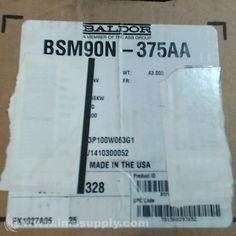 BALDOR BSM90N-375AA AC BRUSHLESS SERVO MOTOR 3.46KW  300VAC 4000RPM